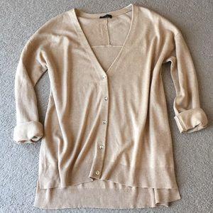 H by Halston hi low cardigan silk & cashmere sz L